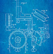 Duncan Addressing Machine Patent Art 1896 Blueprint Art Print