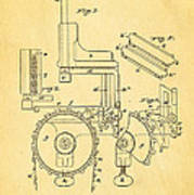 Duncan Addressing Machine Patent Art 1896 Art Print