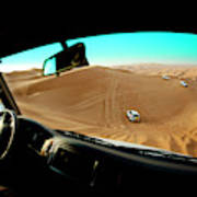 Dune Bashing In The Empty Quarter Art Print