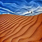 Dune Raven Sky Art Print
