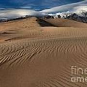 Dunes Ripples And Clouds Art Print