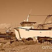 Dungeness Fishing Boats Art Print