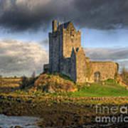 Dunguaire Castle With Dramatic Sky Kinvara Galway Ireland Art Print