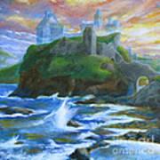 Dunscaith Castle - Shadows Of The Past Art Print