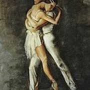 Duo Dance Art Print by Podi Lawrence