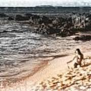 Duotone Beach Scene Art Print