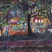 Dupont In The Rain Art Print