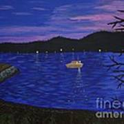 Dusk On Puget Sound Art Print