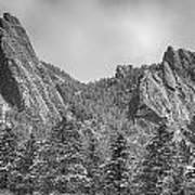 Dusted Flatiron In Black And White  Art Print