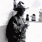 Dustin Farnum On  Set Of Light Of The Western Stars  Las Moros Ranch Southern Arizona 1918-2013  Art Print