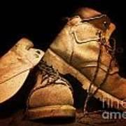 Dusty Work Boots Art Print