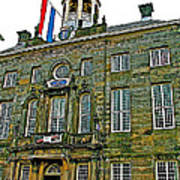 Dutch Architecture Of The Golden Age For Town Hall In Enkhuizen- Art Print