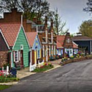 Dutch Shops On Windmill Island In Holland Michigan Art Print