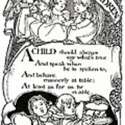 Duty Of Children  1895 Art Print