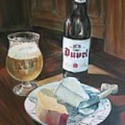 Duvel And Cheese Plate Art Print