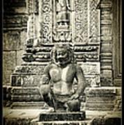 Dvarapala At Banteay Srey Art Print