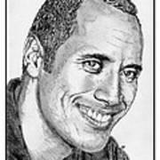 Dwayne Johnson In 2007 Art Print by J McCombie