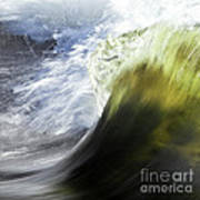 Dynamic River Wave Art Print