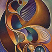 Dynamic Series #23 Art Print by Ricardo Chavez-Mendez