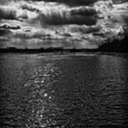 Dynamic Storm Over The Marsh Art Print