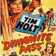 Dynamite Pass, Top Tim Holt, Bottom L-r Art Print