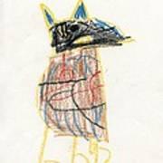 E's Crow Art Print