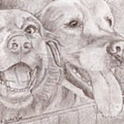Eager Best Friends Art Print