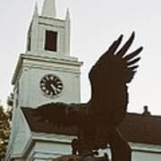 Eagle And Church Art Print