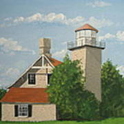 Eagle Bluff Lighthouse Wisconsin Art Print