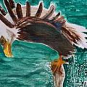 Eagle Fishing Art Print