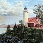 Eagle Harbor Light Art Print
