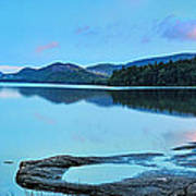 Eagle Lake Maine - Panoramic View Art Print by Thomas Schoeller