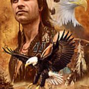 Eagle Montage Art Print by Garry Walton