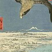 Eagle Over One Hundred Thousand Acre Plain At Susaki Art Print