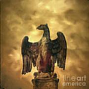 Eagle Sculpture Art Print by Bernard Jaubert