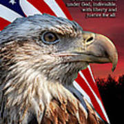 Eagle With Pledge Allegiance Art Print