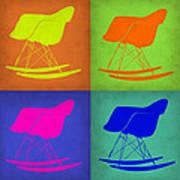 Eames Rocking Chair Pop Art 1 Art Print
