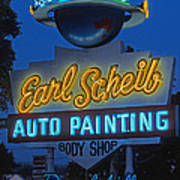 Earl Scheib Neon Bev Hills-1 Art Print