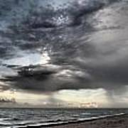 Early Am Storm At The Beach Art Print