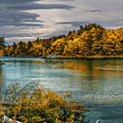 Early Autumn Along The Androscoggin River Art Print by Bob Orsillo