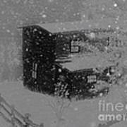 Early Blizzard At The Old Homestead Art Print