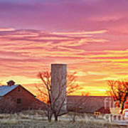 Early Country Morning Sunrise Art Print
