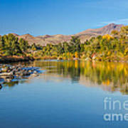 Early Fall On The Payette Print by Robert Bales