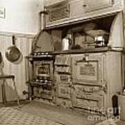 Early Kitchen With A Gas Stove 1920 Art Print