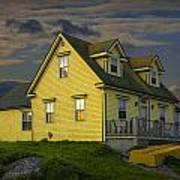 Early Morning At Peggys Cove In Nova Scotia Canada Art Print
