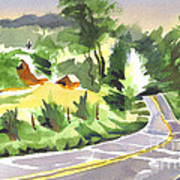 Early Morning Out Route Jj Art Print