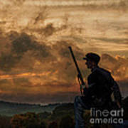 Early Morning Picket Duty Union Soldier Art Print
