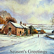 Early Morning Snow Christmas Cards Art Print by Andrew Read