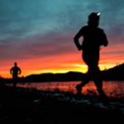 Early Morning Trail Running Art Print