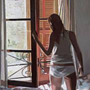 Early Morning Villa Mallorca Art Print by Gillian Furlong